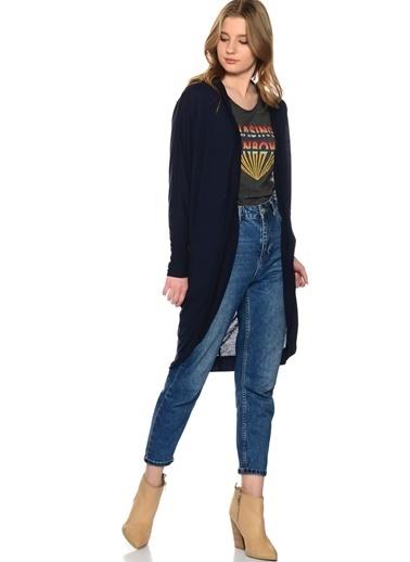 Vero Moda Vero Moda 10163111 Normal Kesim Uzun Füme Melanj Renk Kadın Hırka Füme